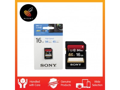 Sony SD Card 16GB 94mb/s Ultra High Speed Class 10 SDHC UHS-I SF-16UX