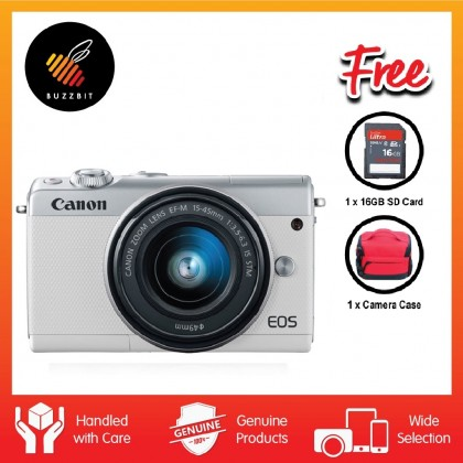 Canon EOS M100 15-45mm Mirrorless Digital Camera + 32GB + Bag