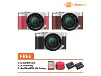 Fujifilm X-A3 16-50mm Mirrorless Camera + Camera bag + 32GB + 2pcs Battery