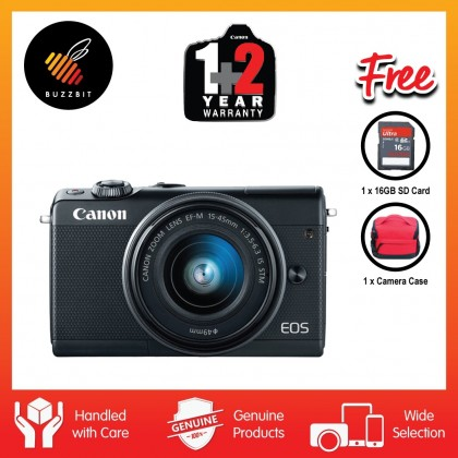 Canon EOS M100 15-45mm Mirrorless Digital Camera (Black)