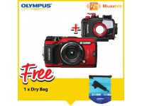 Olympus Tough TG-5 Digital Camera (Red)with Underwater Housing PT-058