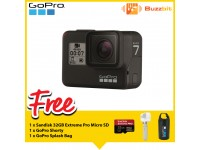 GoPro Hero 7 Black + Sandisk 32GB 95mb/s Extreme Pro Micro SD Card +Shorty+30L Splash Bag