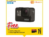 GoPro Hero 7 Black + Sandisk 32GB 95mb/s Extreme Pro Micro SD Card + 3 Way Arm