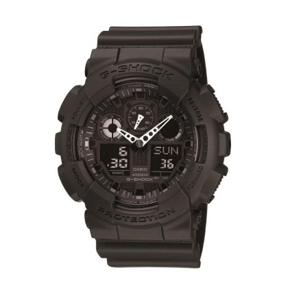 Casio G-Shock GA-100-1A1DR Black Resin Band Digital Analog Watch