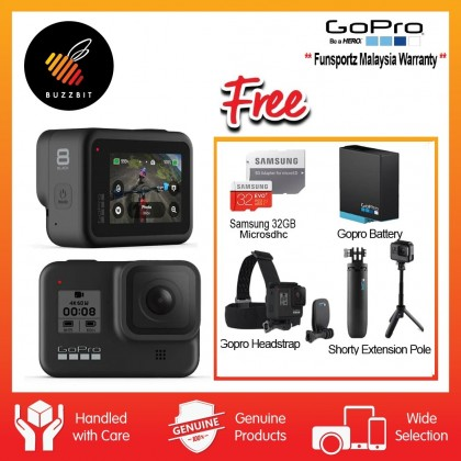 Gopro Hero 8 Black with Exclusive Bundles (FUNSPORTZ MALAYSIA)