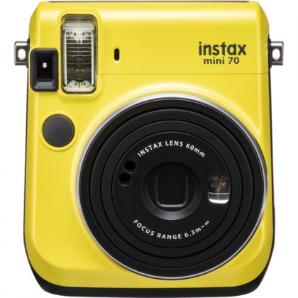 Fujifilm Instax Mini 70 Instant Camera Blue/ Yellow/ Gold + Twinpack Film + Soft Pouch + Acrylic Stand