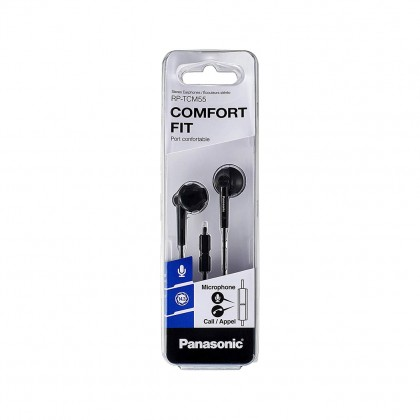 PANASONIC RP-TCM55E-K STEREO EARPHONE (BLACK)