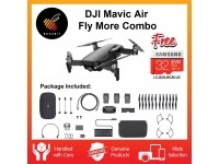 (Ready Stock) DJI Official DJI Mavic Air Fly More Combo (Black)