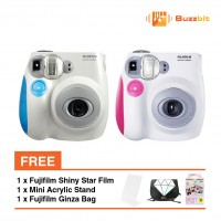 Fujifilm Instax Mini 7s + Shiny Star Film (10pcs) + Mini Acrylic Stand + Bag