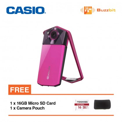 Casio Exilim EX-TR70 TR70 Selfie Digital Camera (Vivid Pink/White)