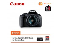 Canon EOS 1500D EFS 18-55 IS II Lens Kit + 32GB + Bag