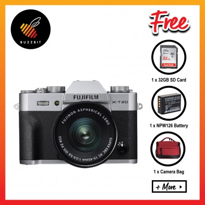 Fujifilm X-T20 XT20 15-45mm Mirrorless Camera + 32GB + Battery