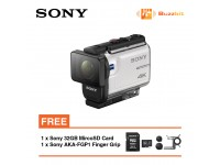 Sony Action Cam FDR-X3000R (White) + Sony 32GB + Sony AKA-FGP1 Finger Grip