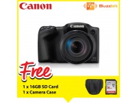 Canon PowerShot SX430 IS Digital Compact Camera (Black) + 16GB
