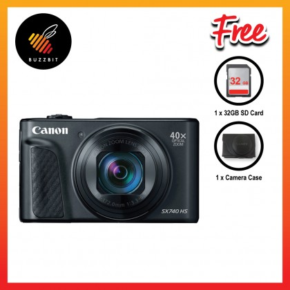 Canon PowerShot SX740 HS Digital Compact Camera + 32GB